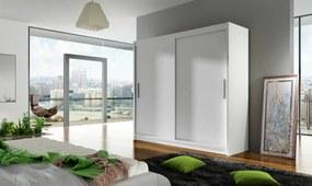 ANKON MEBLE Bega 1 šatníková skriňa s posuvnými dverami biela