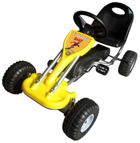 vidaXL Šľapacia motokára, žltá