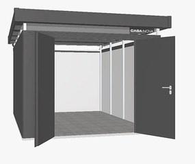 Záhradný domček BIOHORT CasaNova 330 x 430 (tmavo sivá metalíza) pozície dverí vpravo