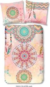 Obliečky na jednolôžko z bavlneného saténu Muller Textiels Vilastre, 140 × 200 cm