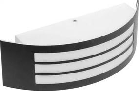 Vonkajšie nástenné svietidlo GTV ASTRIT čierna