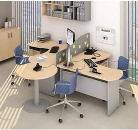 Zostava kancelárskeho nábytku Manager 4 breza