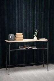 HALMAR Genua KN1 konzolový stolík prírodná / čierna