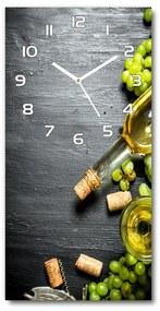 Nástenné hodiny tiché Hrozno a víno pl_zsp_30x60_f_120971469