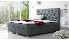 Čalúnená posteľ s úložným priestorom Vivien antracit 140 + topper zdarma
