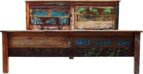 Bighome - Posteľ OLDBOAT 180x220 cm - viacfarebná