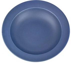MIJ Hlboký tanier so širokým okrajom tmavomodrý 21,5 cm