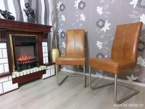 (679) LENNE - Moderná kožená stolička
