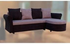 Rohová sedačka rozkladacia KATEŘINA 2 Čierna