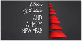 Skleněný obraz Abstrakčná dekorácia vianočného stromčeka