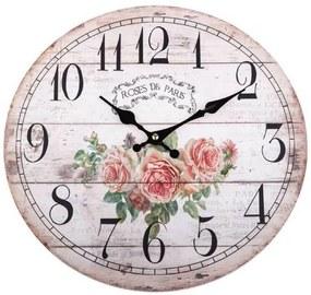 Hodiny nástenné 34 cm Roses Paris HLC191013