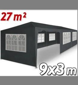 Altánok Pavilón DE45 XXL 9x3m sivá