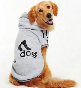 (veľkosť 3XL: 54/40 cm) Mikina DOG pre veľkých psov - sivá