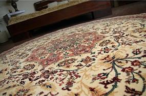 Luxusný kusový koberec akryl Kordoba béžový kruh, Velikosti 135cm