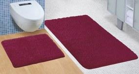 Brotex Kúpeľňová sada predložiek Micro 60x100 + 60x50cm bordó
