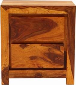 Nočný stolík Tara 45x60x40 indický masív palisander Only stain