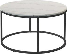 Mramorový odkladací stolík s čiernou konštrukciou RGE Accent, ⌀ 85 cm