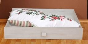 Úložná zásuvka pod posteľ Pingu AS-30, bielený smrekovec