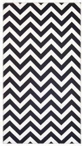 Čiernobiely koberec Vitaus Ryan, 80 x 150 cm