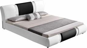 KONDELA Luxor 180 manželská posteľ 180x200 cm biela / čierna