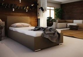 Jednolôžková čalúnená posteľ FOX 5 + rošt + matrac, 90x200, Sofie 7