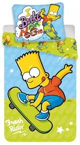 Jerry Fabrics Detské bavlnené obliečky – Bart skate 03 140x200/70x90cm