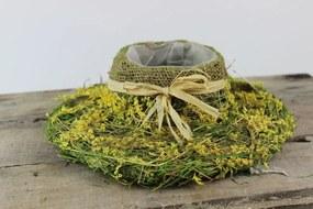 Zeleno žltý svetlý prírodný klobúk 26cm