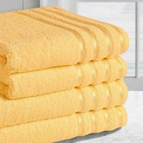 Goldea uterák / osuška z bambusového vlákna pruhy - marhuľový 30 x 50 cm