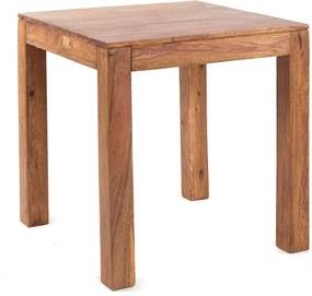 Jedálenský stôl Gani 80x80 indický masív palisander, Only stain