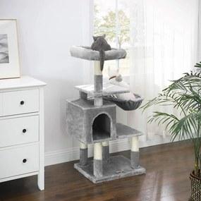 FEANDREA Mačací strom škrabadlo 110 cm svetlo sivý