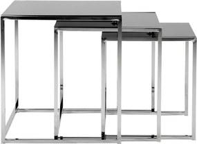 Sada 3 konferenčných stolíkov Actona Cross Nest, 50 × 55 cm