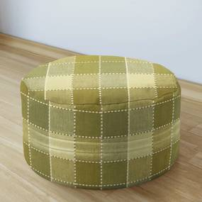 Goldea bavlnený sedacie bobek 50x20cm - kanafas - vzor kocka veľká štep olivová 50 x 20 cm