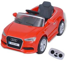 vidaXL Elektrické detské autíčko s diaľkovým ovládaním, Audi A3, červené