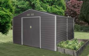 Záhradný domček G21 GAH 706 - 277 x 255 cm, šedý