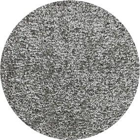 Vopi koberce Kruhový koberec Udine šedý - 400x400 (průměr) kruh cm