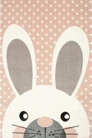 Detský kusový koberec Zajačik ružový, Velikosti 120x170cm