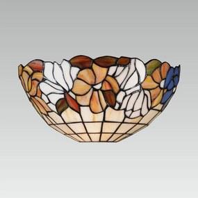 Interierové rustikálne svietidlo PREZENT TIFFANY antická hnedá 108