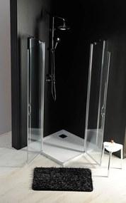 GELCO - ONE sprchové dvere s pevnou časťou 1200 mm, číre sklo (GO4812)