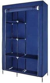 ISO Skriňa na oblečenie 103 cm × 170 cm × 43 cm, modrá, 5349