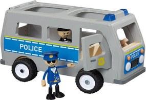 EmaHome Dřevěné policejní auto / ohýbací panáček / policista