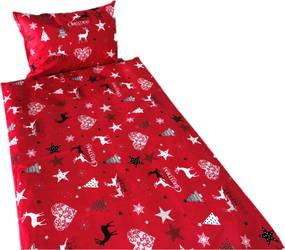 Posteľná obliečka do postieľky Christmas STAR RED 90x130/45x65cm