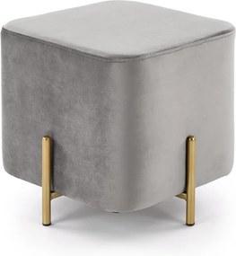 HALMAR Corno taburetka sivá / zlatá