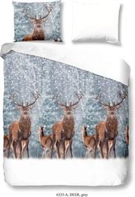 Obliečky na jednolôžko z bavlny Good Morning Deer, 140 × 200 cm