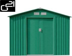 Záhradný domček GAH 580 - 251 x 231 cm, zelený