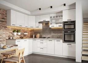 Rohová kuchyňa Vicky ľavý roh 290x180 cm (biela lesklá)