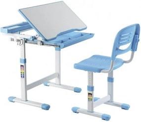 FD Rastúci písací stôl a stolička Kantare Farba: Modrá