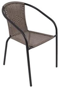 NABBI Herkules II záhradná stolička čierna / sivá