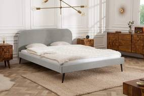 Manželská posteľ Lena 160 x 200 cm - strieborný zamat