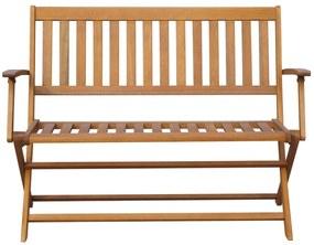 vidaXL Záhradná lavička 120 cm, akáciový masív