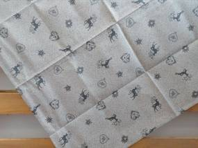 Štvorcový bavlnený obrus TIROL ŠEDÝ 90x90